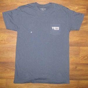 Yeti Coolers T Shirt Blue White Size Large
